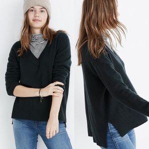 BOGO! Madewell Ex Boyfriend 100% Cashmere Sweater Evergreen